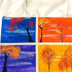 Trees painting 🎨